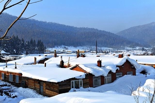 冬季游雪乡有不同的感觉,雪景无需刻意观赏
