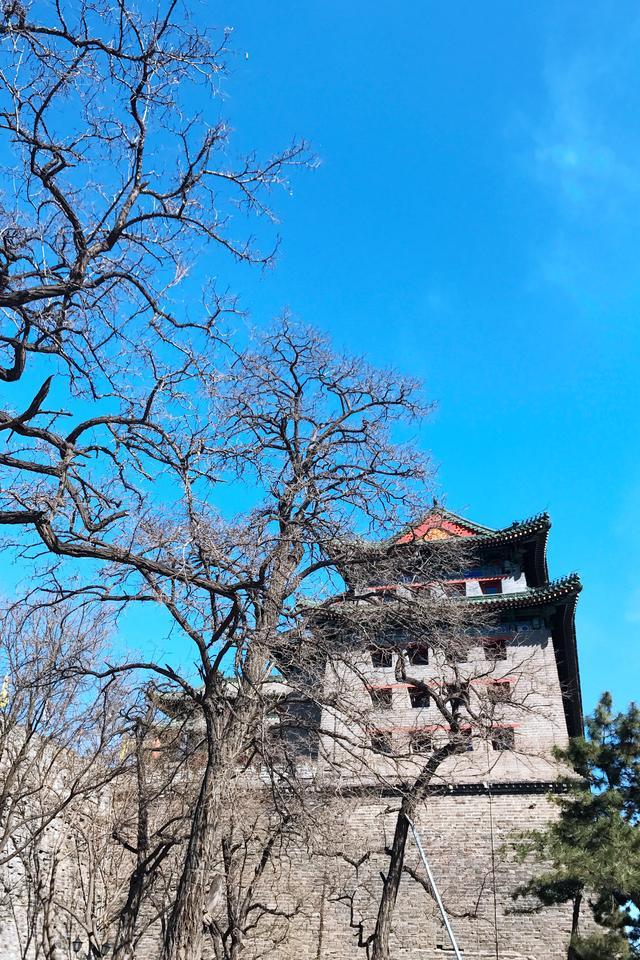 站在城墙上看列车穿梭,2020三月梅花节逛明城墙遗址公园